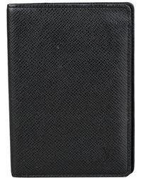 Louis Vuitton Marroquinería Pocket Organizer de Cuero - Negro