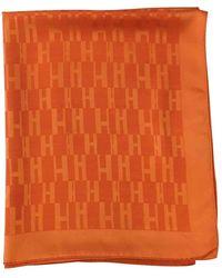 Hermès Chèches.Echarpes \N en Soie Orange