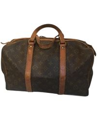 Louis Vuitton   Pre-owned Keepall Cloth 24h Bag   Lyst
