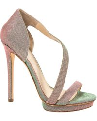 B Brian Atwood - Green Cloth Heels - Lyst