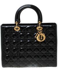Dior Lady Lackleder Shopper - Schwarz