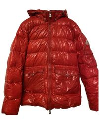 Pyrenex Mantel en Polyester Rouge