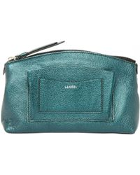 Lancel - Pre-owned Leather Clutch Purse - Lyst