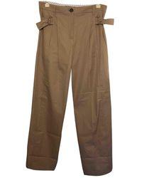Louis Vuitton Beige Cotton Trousers - Natural