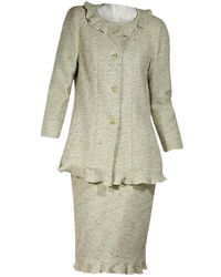 9c4ec8eb6a Gianni Versace Couture Vintage Lime Green Wool Jacket & Skirt Suit ...