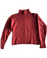 Mulberry Red Wool Knitwear