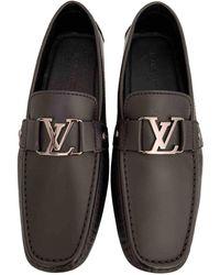 Louis Vuitton Mocasines en cuero negro Monte Carlo