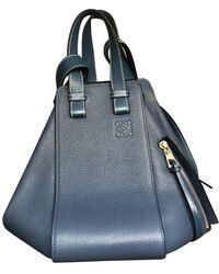 Loewe Hammock Leder Handtaschen - Blau