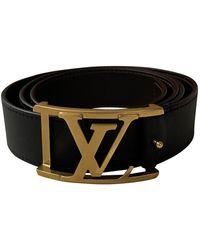 Louis Vuitton Cinturón en cuero negro