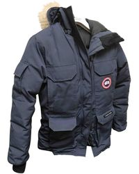 Canada Goose Blue Cotton Coat