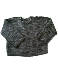 Isabel Marant Anthracite Wool Knitwear - Grey