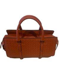 Bottega Veneta Orange Leather Handbag