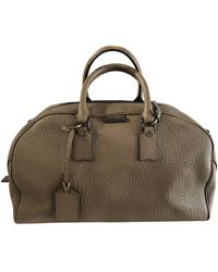 Burberry Leather Weekend Bag - Natural