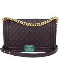 Chanel - Pre-owned Boy Leather Handbag - Lyst