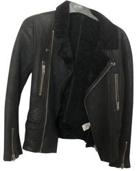 IRO Shearling Jacket - Black