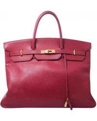 Hermès - Vintage Birkin 40 Red Leather Handbag - Lyst