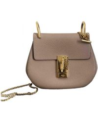 Chloé Drew Leather Handbag - Pink