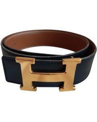 Hermès Cintura in pelle nero H
