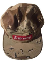 Supreme Beige Cloth Hats & Pull On Hats - Natural