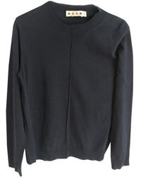 Marni - Navy Cotton Knitwear & Sweatshirt - Lyst