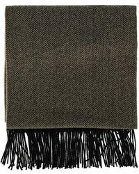 Louis Vuitton Black Wool Scarves - Multicolour
