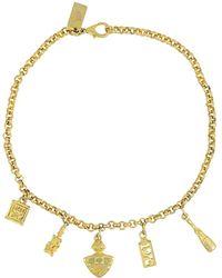 MCM Yellow Gold Necklace - Metallic