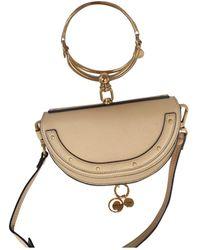 Chloé Bracelet Nile Leather Handbag - Natural