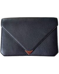 Alexander Wang Prisma Leather Clutch Bag - Blue