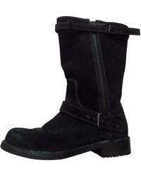 Bottega Veneta - Pre-owned Brown Suede Boots - Lyst