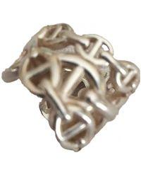 Hermès Chaîne d'Ancre Silber Ringe - Mettallic