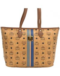 MCM Leather Tote - Natural
