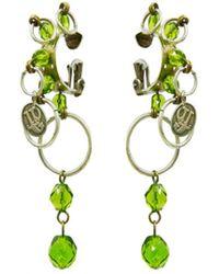 Jean Paul Gaultier - Vintage Silver Metal Earrings - Lyst