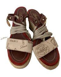 Loewe Cloth Sandals - Brown