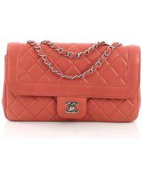 0919c52ac58e Chanel - Timeless/classique Pink Leather Handbag - Lyst