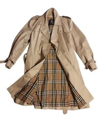 Burberry Beige Cotton Coat - Natural
