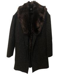 A.P.C. Faux Fur Coat - Black
