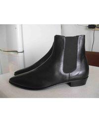 Céline Botas Carmargue boots de Cuero - Negro