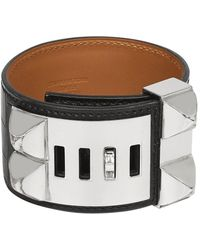 Hermès Collier De Chien Black Alligator Bracelet