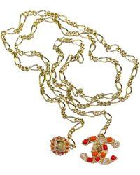 Chanel - Metallic Metal Necklaces - Lyst