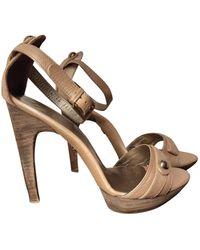 Ferragamo - Leather Sandal - Lyst