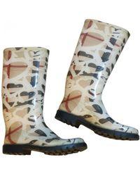 Burberry Wellington Boots - Natural