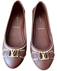Louis Vuitton Leder Ballerinas - Braun