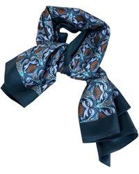 Chloé Silk Scarf - Blue