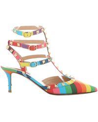 Valentino - Rockstud Multicolour Leather Heels - Lyst