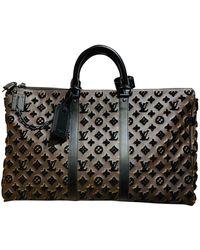 Louis Vuitton Bolso de viaje Keepall de Lona - Marrón