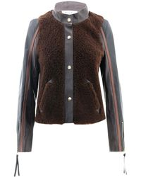 Marni Leather Jacket - Brown