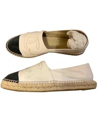 Chanel Leather Espadrilles - Natural