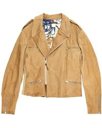 Roberto Cavalli Camel Leather Jacket - Natural