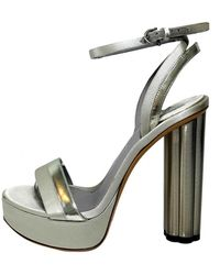 Ferragamo - Silver Leather - Lyst