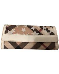 Burberry Cloth Wallet - Natural